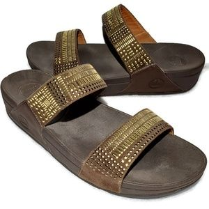 Fitflop Aztec Chada Womens Size 10 Slide Sandals